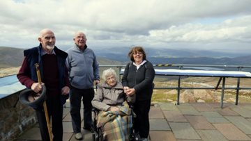 Resident climbs CairnGorm Mountain at 97